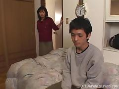 Japanese cougar enjoys it deep doggy style in reality clip