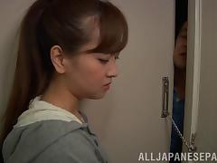 Hot asian milf chick with trimmed pussy Kawai Yukino enjoys hardcore fuck threesome