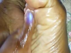 Oily Ebony BBW Feet Rub