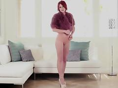 Redhead Compilations  Showing Shaved Pussy, Hot Ass And Tits