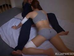 Japanese babe in panties gets pussy banged in prison cell