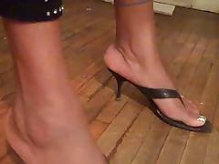Ebony Feet In High Heel Sandals