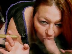 Hot BBW Cougar Cigar Smoky BJ
