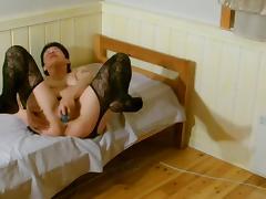 Swollen Pussy, Amateur, Danish, Pussy, Stockings, Wet