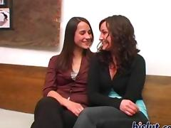These lesbians are horny as they suck on the clit
