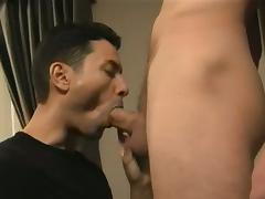 Gabriel blows Dimon's big cock