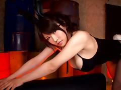 Busty Japanese milf demolished in a harsh fuck
