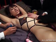 Blistering Asian cowgirl in bondage getting ravished missionary