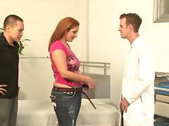 Curvy bitch Sonia Blaze rides a weiner in amazing voyeur clip