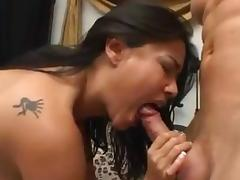 Beautiful Asian GF riding cock with cum in mouth