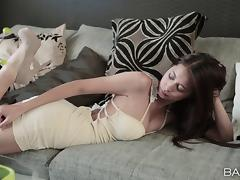 Posing, Asshole, Blowjob, Brunette, Close Up, Couple
