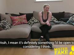 MisterFake Tight amateur pussy causes agents cock to blow