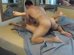 Muscle boyfrend bonks his sexy wife on hidden cam