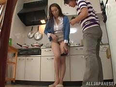 Hot mature Asian housewife enjoys hot group action