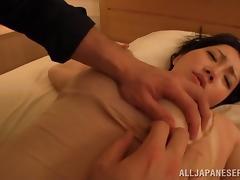Suzuna Komiya enjoys ardent sex after getting her pussy & tits licked