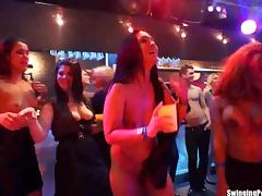 Naked party babes dancing