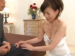 Eriko Miura gets her Japanese pussy drilled in the missionary pose