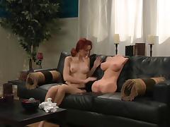 NH with redhead lesbian