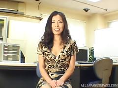 Captivating Asian milf gets her pussy banged in missionary pose