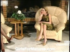 Christina and Ninette lesbian mom porn video