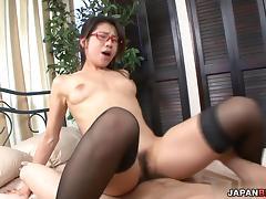 Mizuki Ogawa cock-stuffed with her lover
