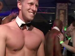 A party transforms into cock-sucking competition in reality clip