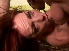 Captivating Riley Shy drives a man crazy with a perfect blowjob