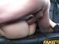 FakeTaxi Cute brunette gets fucked in taxi