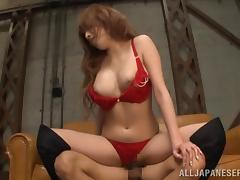 Affectionate Asian cowgirl with long hair getting sensual rim job before being fucked doggystyle