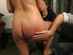 Hardcore MMF threesome with salacious brunette milf, Sandi Beach