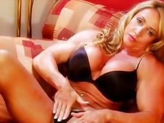 Acrobatic, Big Tits, Blonde, Boobs, Lingerie, Masturbation