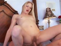 Delightful babe gets her hairy pussy fingered then slammed hardcore